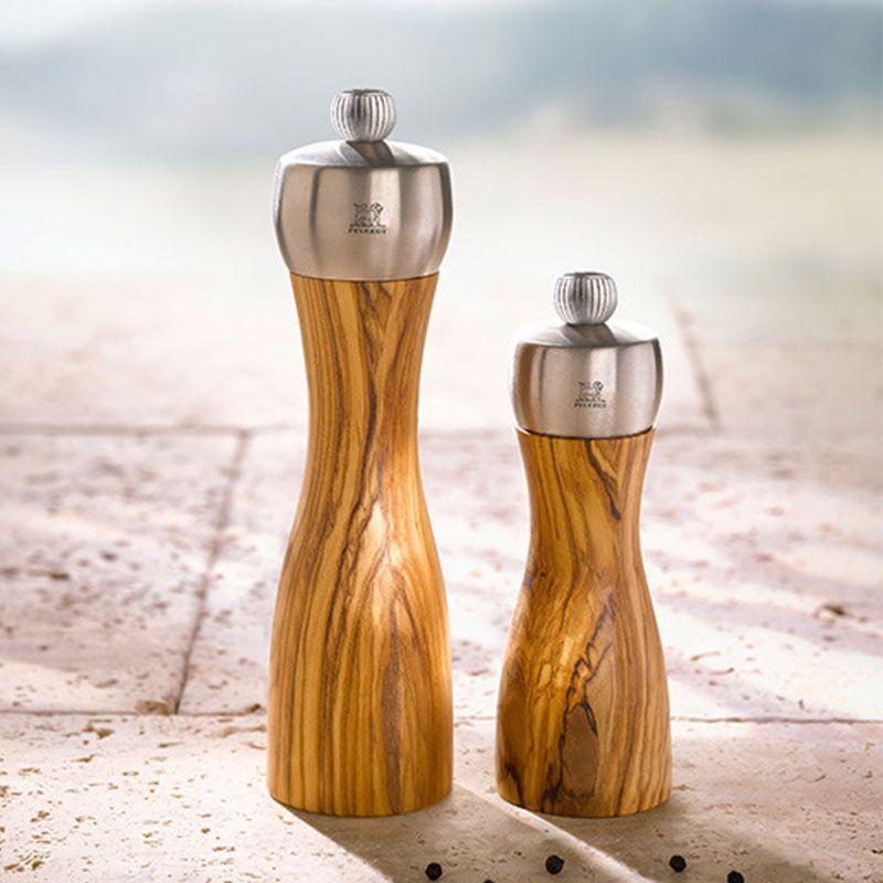 Molinillos Peugeot nueva colección Fidji madera de olivo
